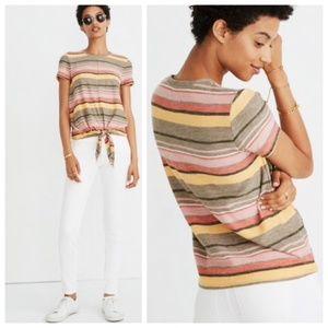 Madewel Texture & Thread Modern Tie-Front Top